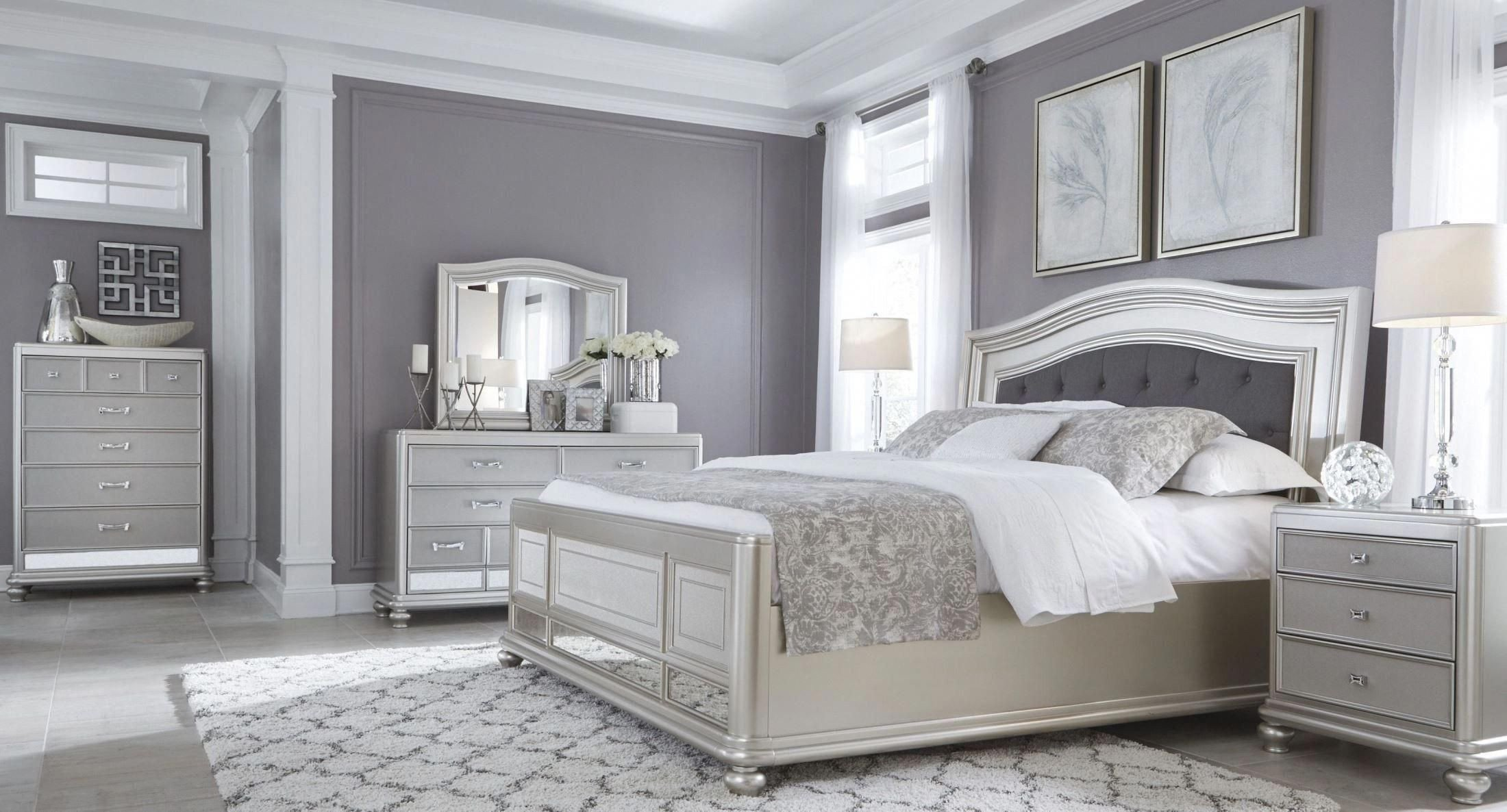 White Tufted Bedroom Set Best Of Coralayne Silver Bedroom Set … Bedroom Furniture