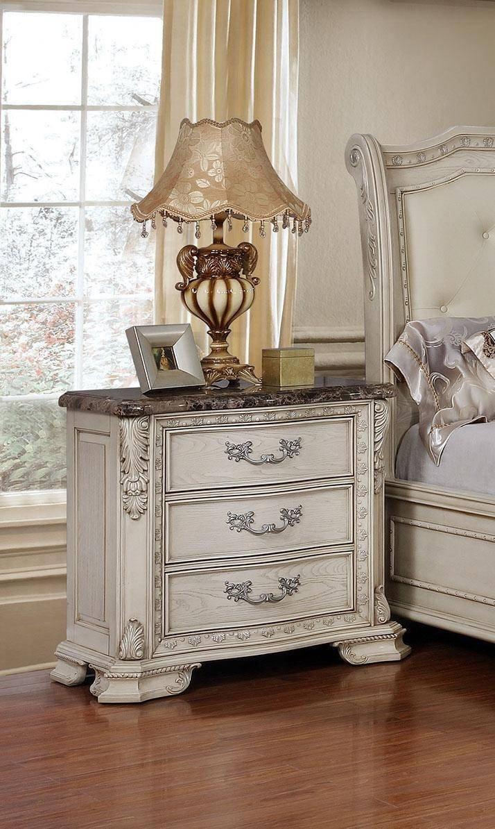 White Tufted Bedroom Set Fresh Mcferran B1000 Antique White Tufted King Size Bedroom Set