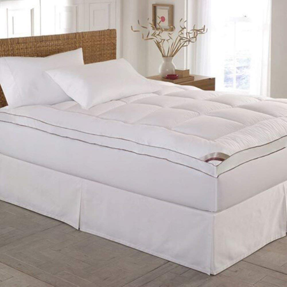 White Washed Bedroom Furniture Luxury Kathy Ireland Home Essentials 233 Thread Count Cotton Fiber Mattress Pad Queen White