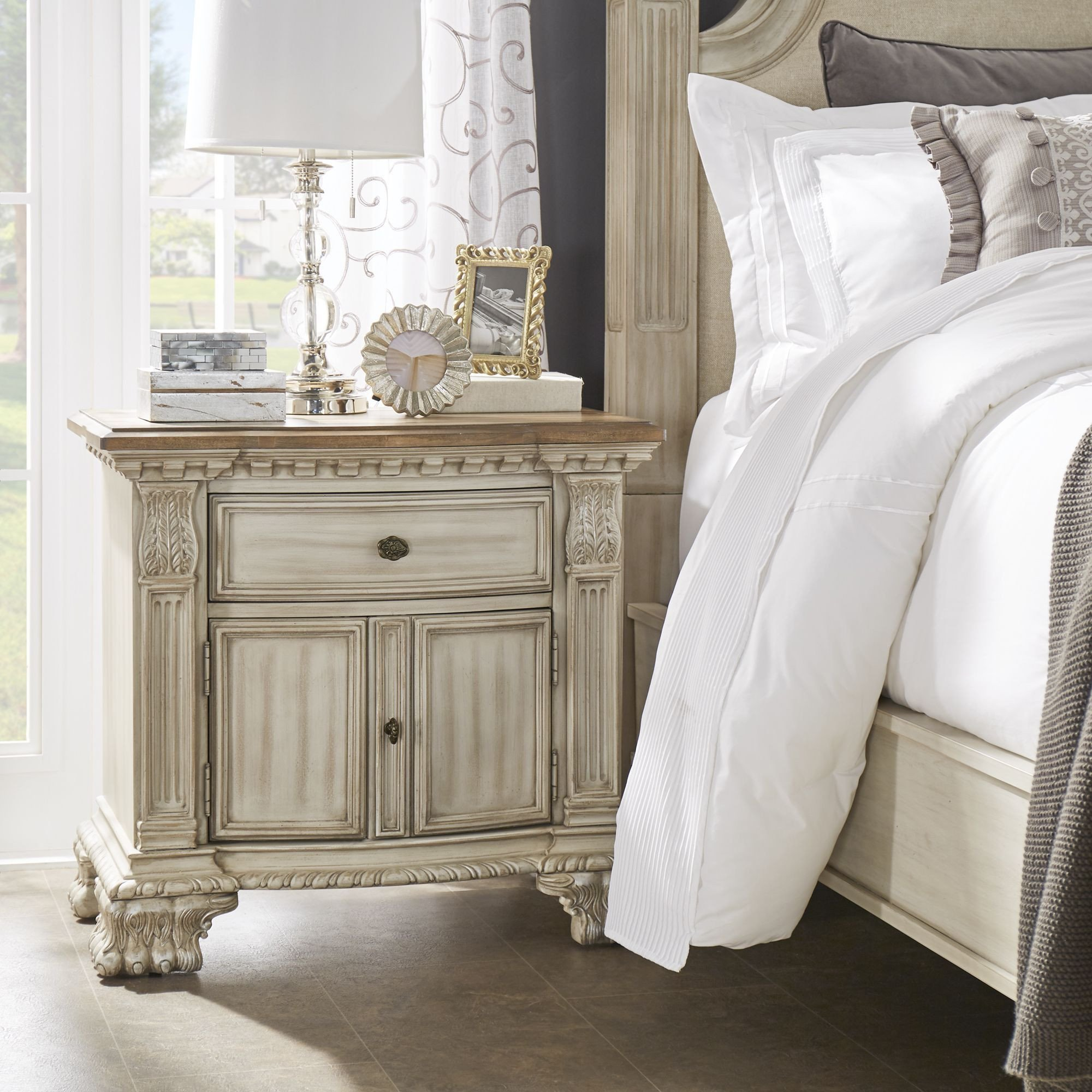White Washed Bedroom Furniture Set Elegant Decorate Your Room with the Ellina Washed White Finish