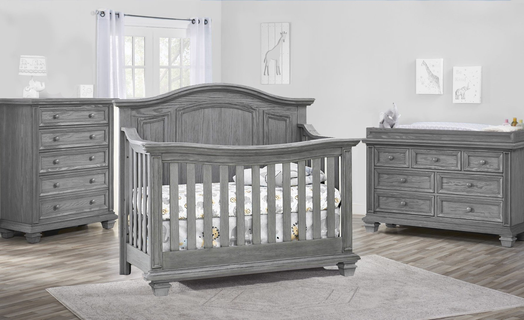 White Washed Bedroom Furniture Set Lovely Oxford Baby Cambridge 3 Piece Nursery Set In Brushed Gray