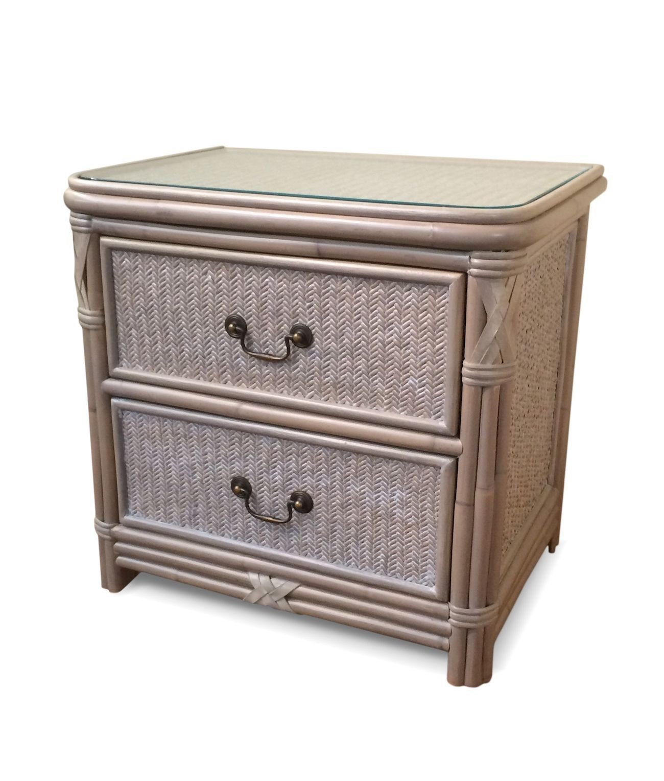 White Wicker Bedroom Furniture Awesome the Manor Rattan 2 Drawer Nightstand