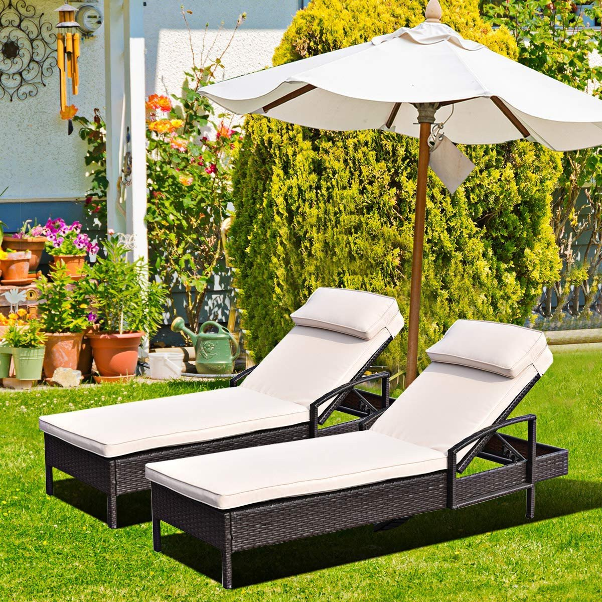White Wicker Bedroom Furniture Beautiful Patiojoy Patio Reclining Chaise Lounge Outdoor Beach Pool Yard Porch Wicker Rattan Chaise Adjustable Backrest Lounger Chair Beige
