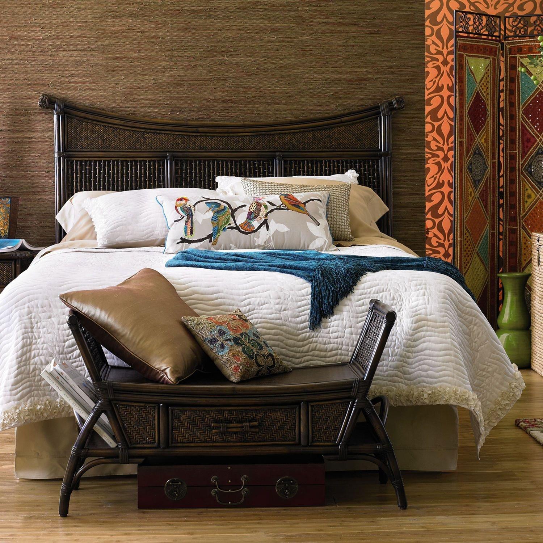White Wicker Bedroom Furniture Elegant Senopati Queen Headboard Brown Pier1 Us