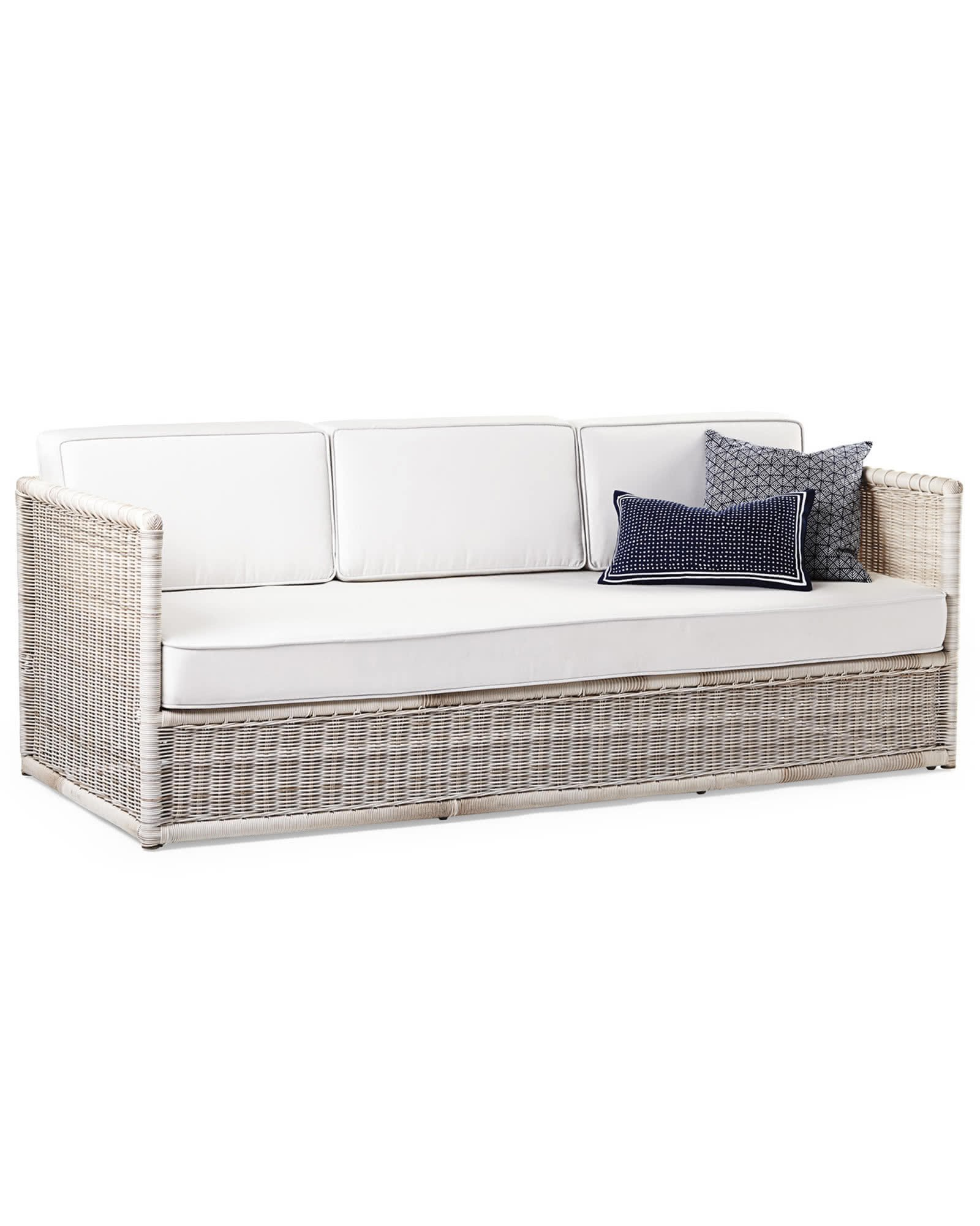 White Wicker Bedroom Furniture Fresh Pacifica sofa Replacement Cushions Serena & Lily