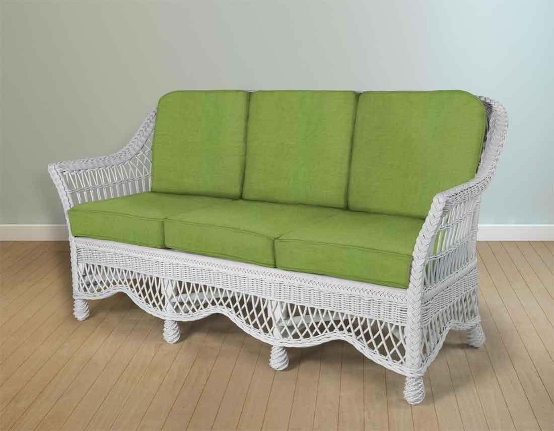 White Wicker Bedroom Furniture Luxury Capri Rattan Framed Natural Wicker sofa