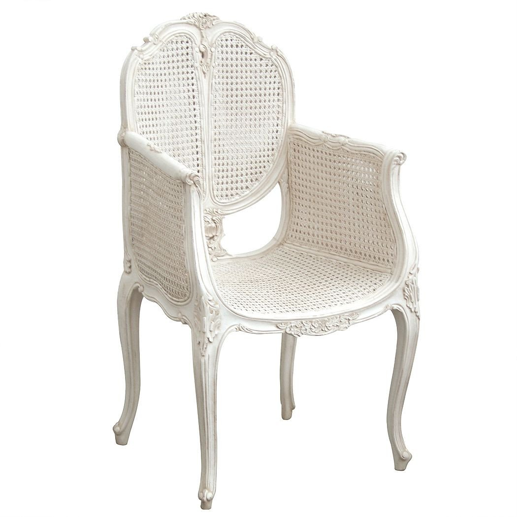 White Wicker Bedroom Furniture Luxury Provencal Rattan White Chair In 2020
