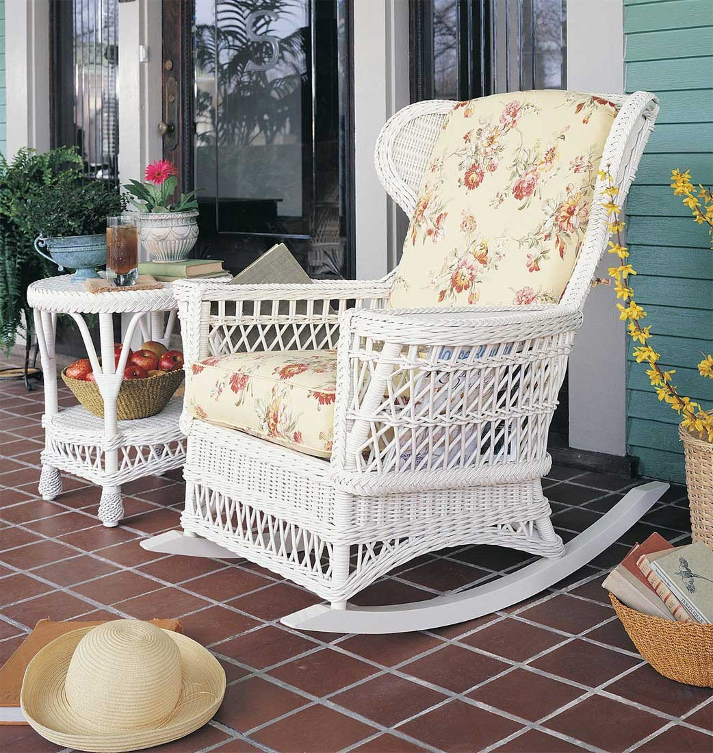 White Wicker Bedroom Furniture Unique Vintage Natural Wicker Rocking Chair