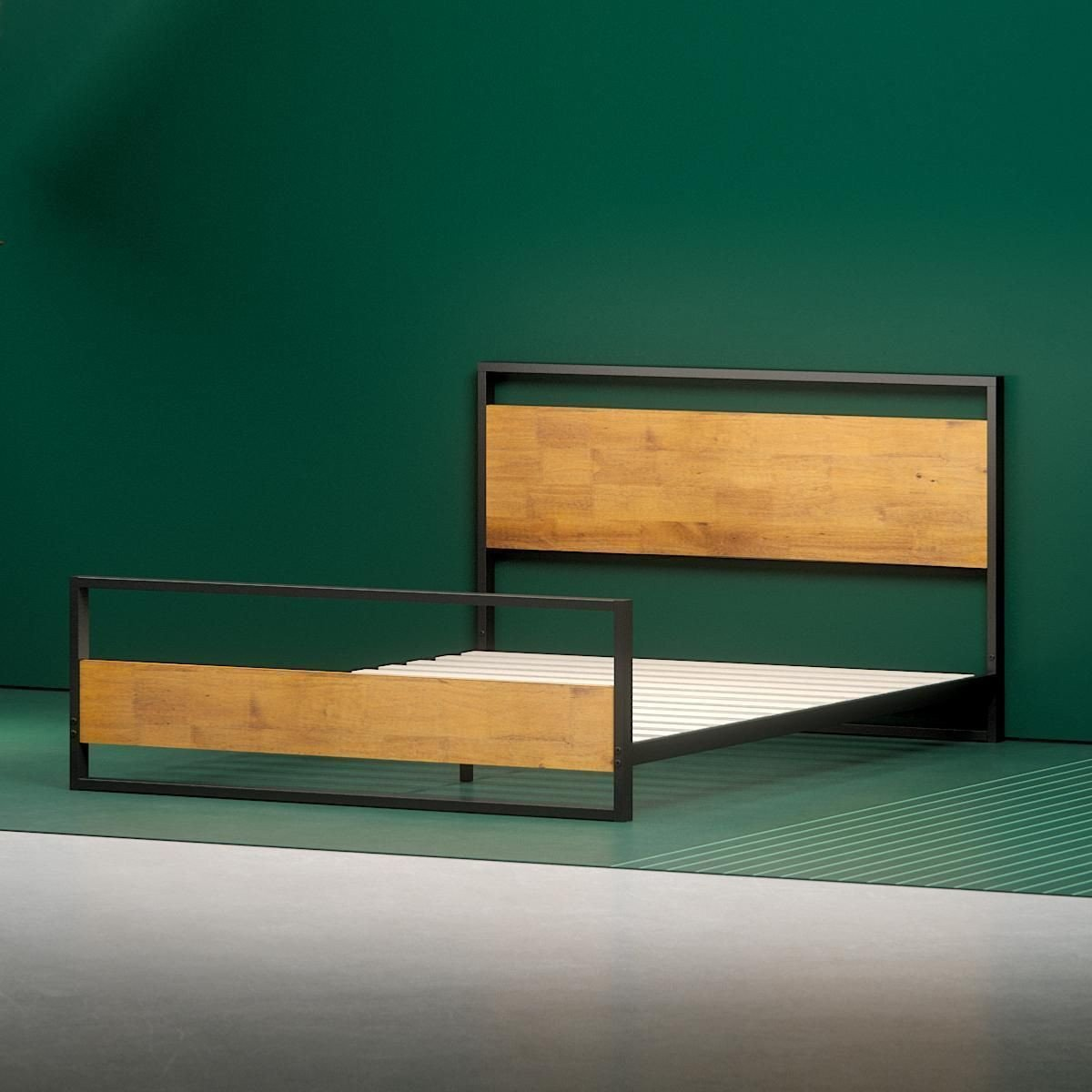 Wood and Metal Bedroom Best Of Suzanne Metal and Wood Platform Bed Frame with Footboard