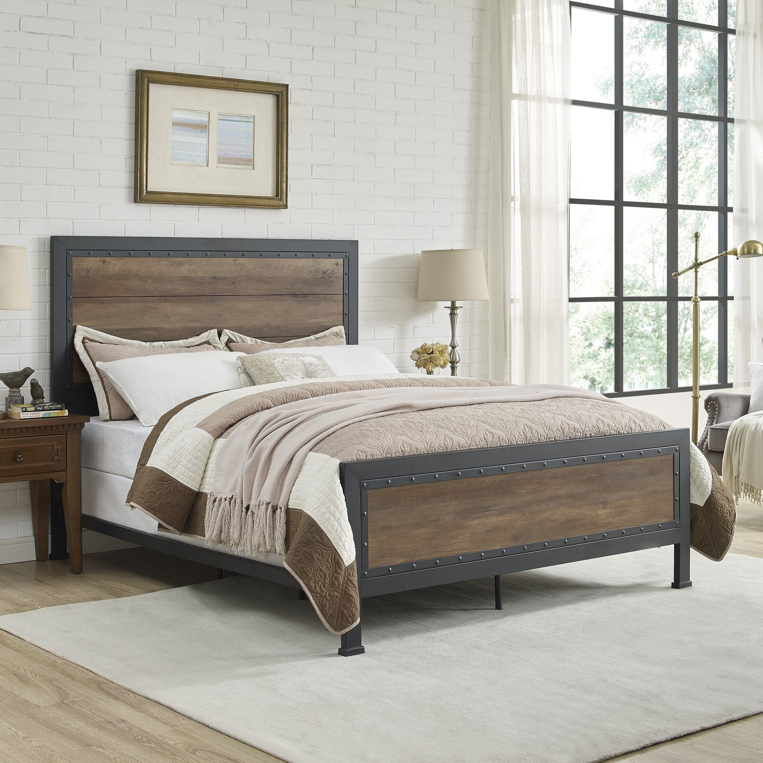 Wood and Metal Bedroom Lovely Walker Edison Bqawro En 2019