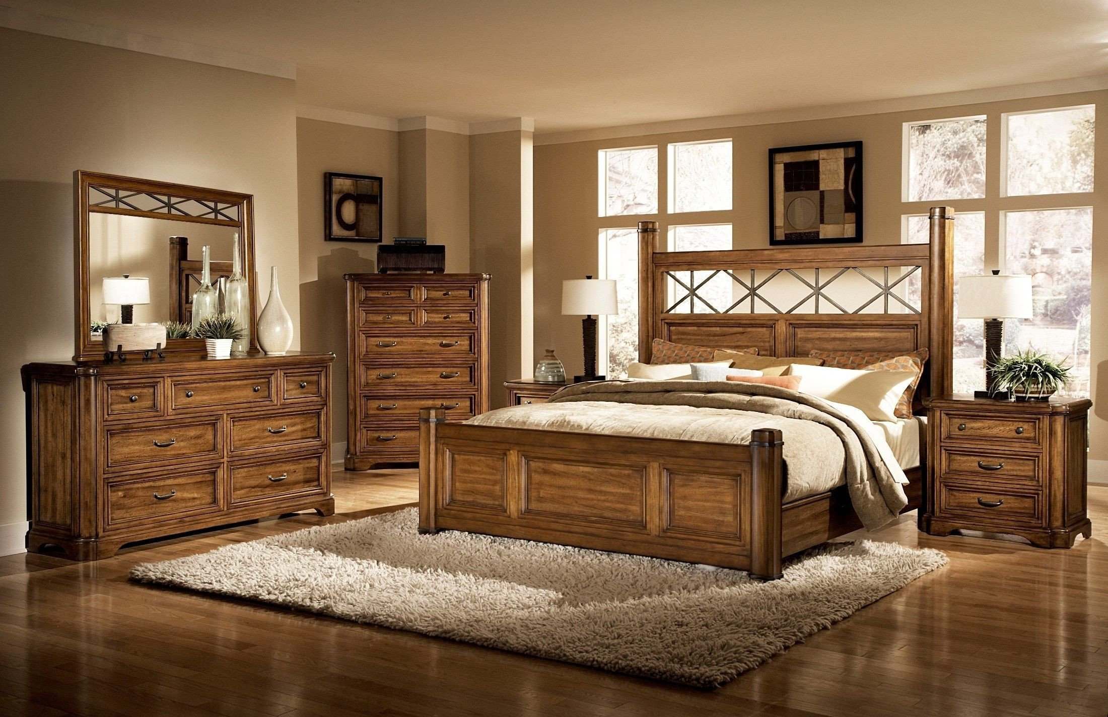 Wood Queen Bedroom Set Beautiful Copper Ridge Queen Bed Luxury Furniture Beds