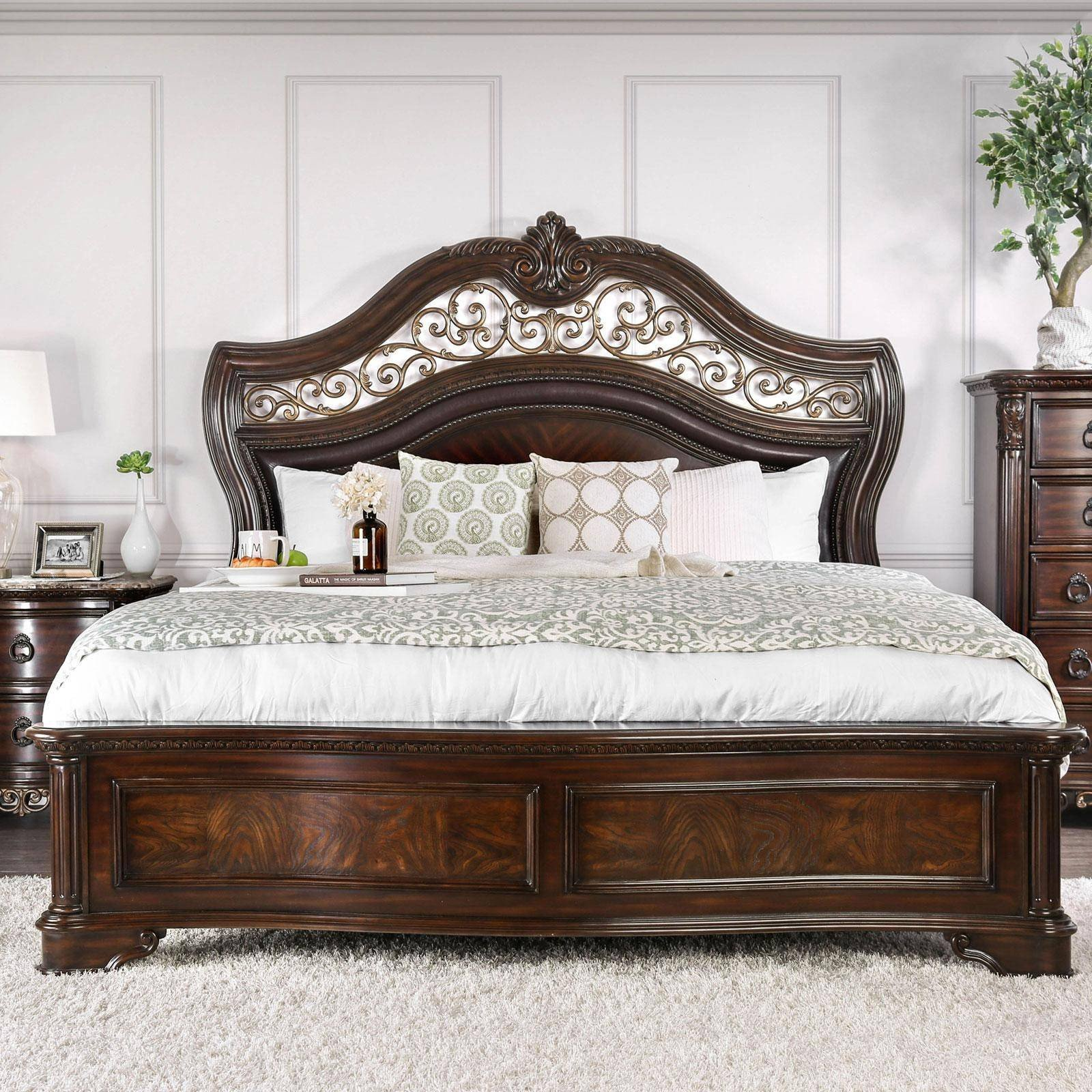 Wood Queen Bedroom Set Best Of Wood Queen Bedroom Set 4pcs Brown Menodora Furniture Of