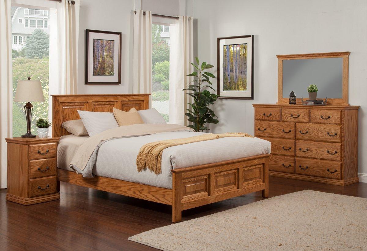 Wooden Bedroom Furniture Set Beautiful Traditional Oak Panel Bed Bedroom Suite Queen Size