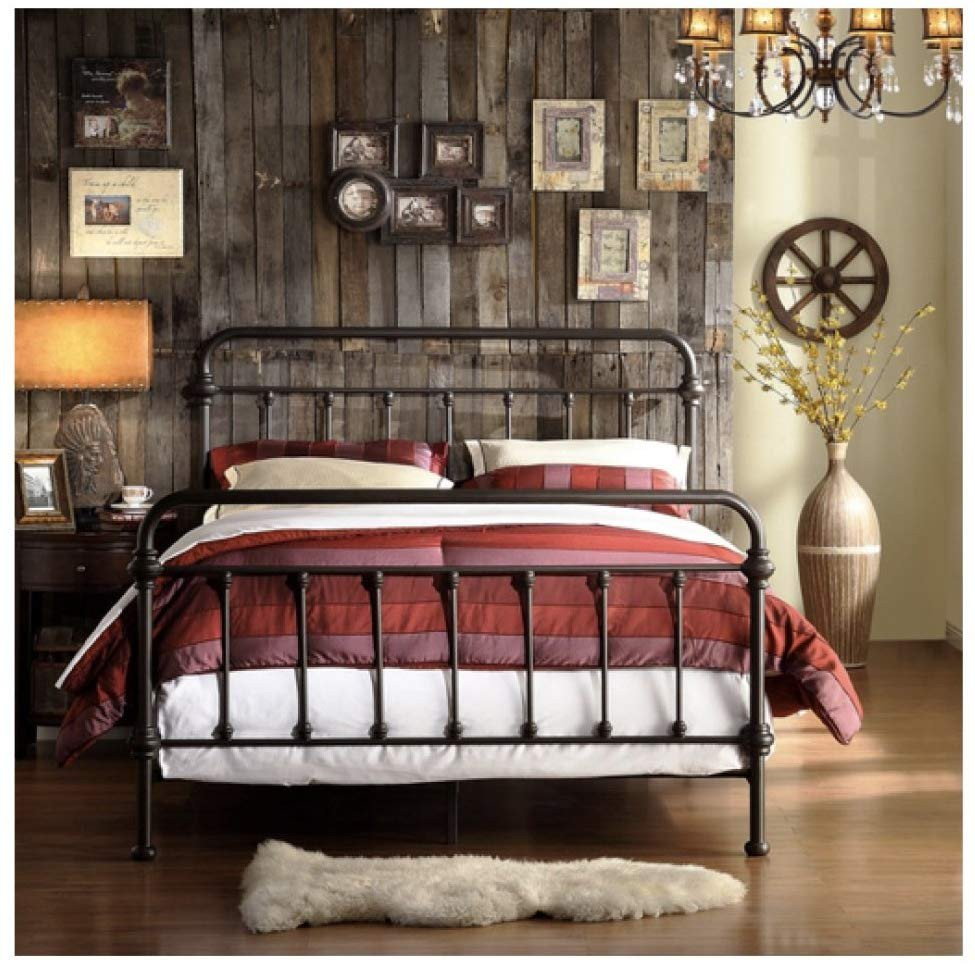 Wrought Iron Bedroom Set Elegant Tribecca Home Wrought Iron Bed Frame Dark Bronze Metal Queen Size Usa Vintage Look Shabby Chic French Country Queen