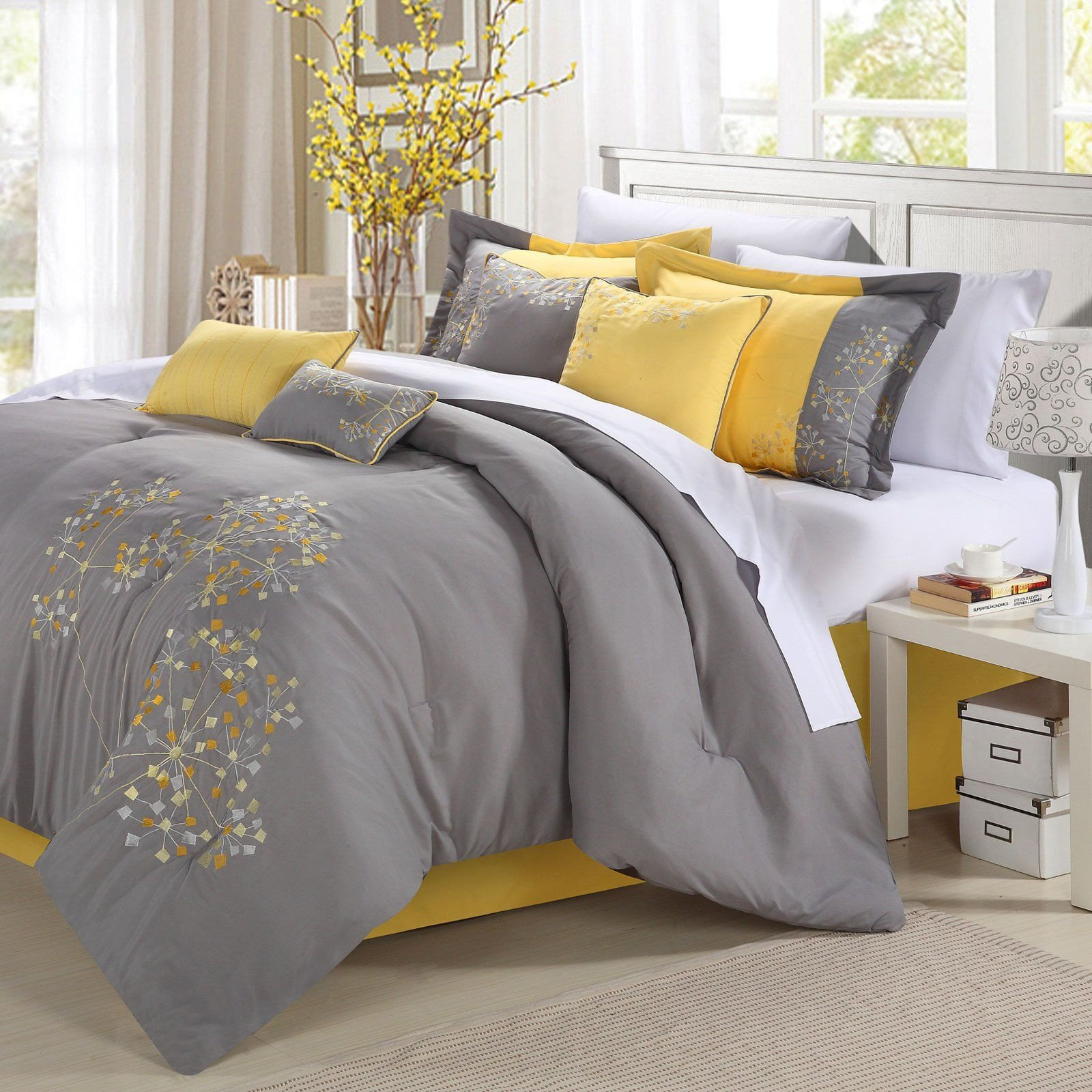 Yellow and Turquoise Bedroom Best Of Petunia forter Set by Chic Home Gray Turquoise 33 91